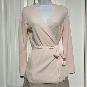 LOFT Pink Tie-front Cardigan Sweater Wrap XSP Pink